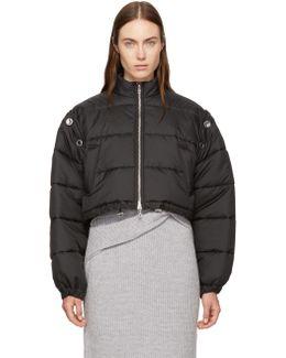 Black Cropped Puffer Ski Coat