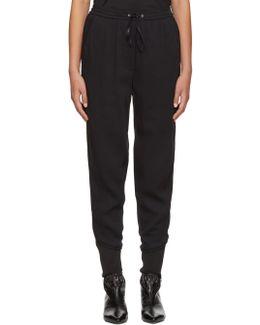 Black Crepe Jogger Trousers