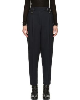Blue Belted Trousers