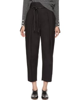 Black Origami Trousers