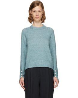 Blue Pearl Cuff Sweater