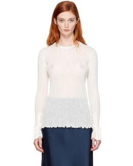 Ivory Rib Pullover