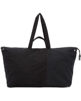 Black Oversized Patchwork Field Bag