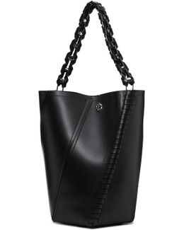 Black Medium Hex Bucket Bag