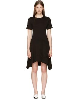 Black Asymmetric Waist Dress
