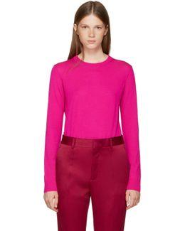Pink Merino Crewneck Pullover