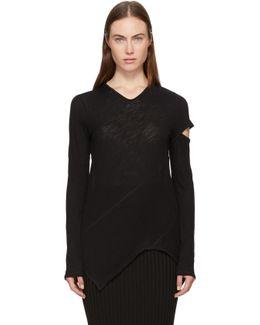 Black Long Sleeve Spiral T-shirt