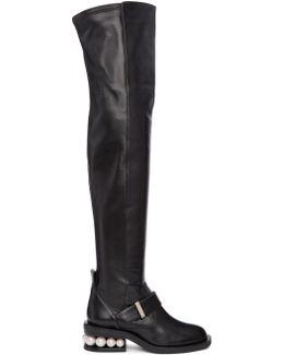 Black Casati Pearl Over-the-knee Boots
