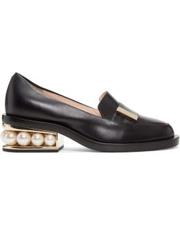 Casati Pearl-heeled Leather Loafer