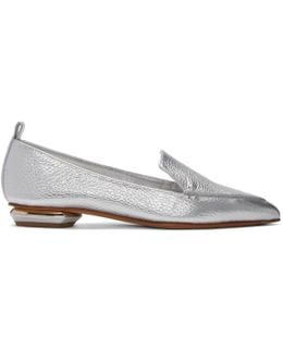 Silver Leather Beya Loafers