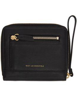 Black Portela Zip Wallet
