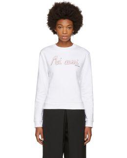 White 'moi Aussi' Sweatshirt