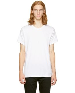 Three-pack White Crewneck T-shirt