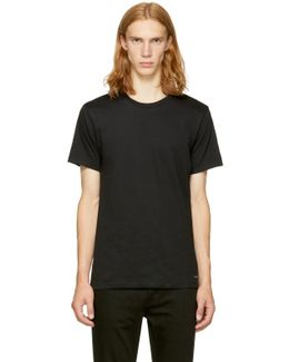 Three-pack Black Crewneck T-shirt