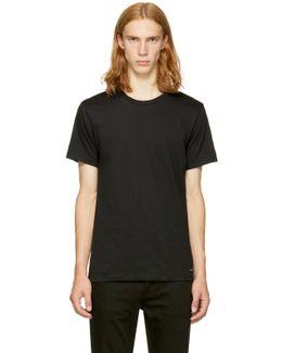 Three-pack Black Crewneck T-shirt