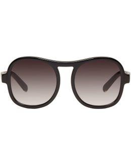 Black Round Sunglasses