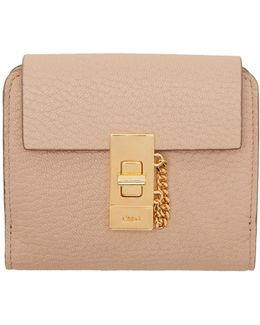 Pink Drew Square Wallet