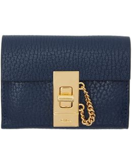 Navy Mini Drew Wallet