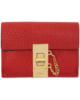 Red Mini Drew Wallet