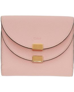 Pink Square Georgia Wallet