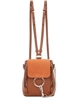 Tan Mini Faye Backpack