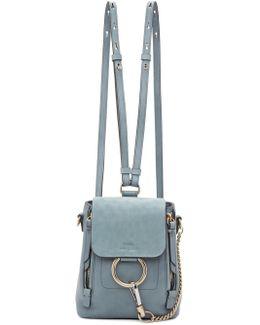 Blue Mini Faye Backpack