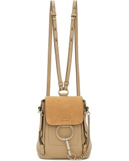Beige Mini Faye Backpack