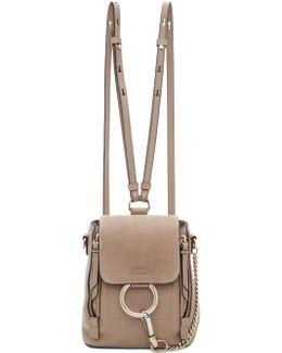 Grey Mini Faye Backpack