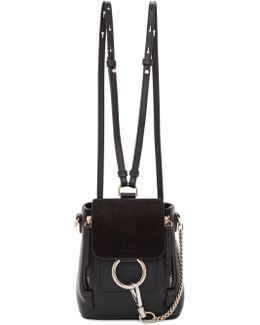 Black Mini Faye Backpack