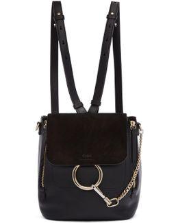 Black Small Faye Backpack