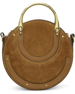 Tan Suede Pixie Bag