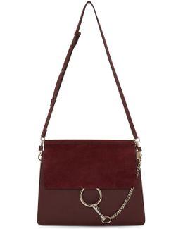 Burgundy Medium Faye Bag