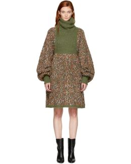 Multicolor Chunky Turtleneck Dress