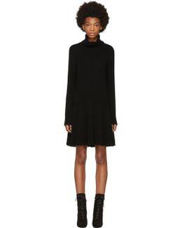 Black Cashmere Turtleneck Dress