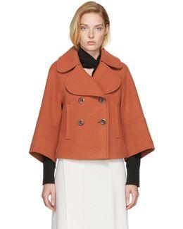 Orange Wool Peacoat
