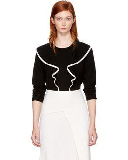 Black Ruffle Sweater