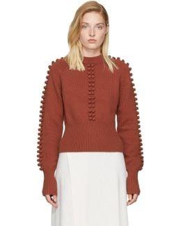 Red Pom Pom Sweater