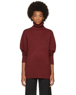 Red Cashmere Classic Long Turtleneck