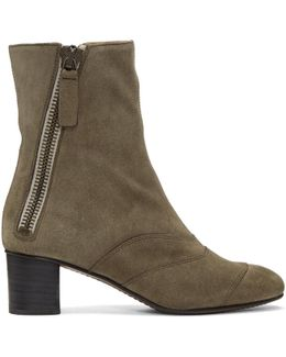 Grey Suede Lexie Boots