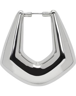 Silver Right Buckle Earring