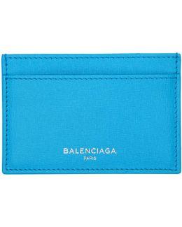 Blue Essential Single Card Holder