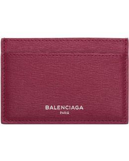 Pink Essential Single Card Holder