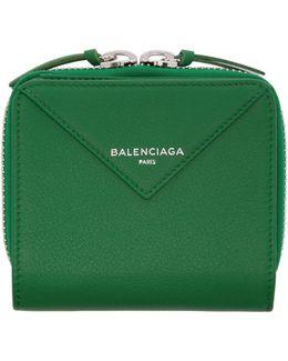 Green Papier Zip Around Wallet