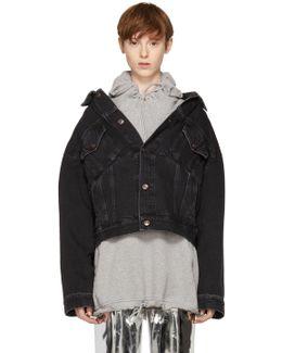 Black Denim Swing Jacket
