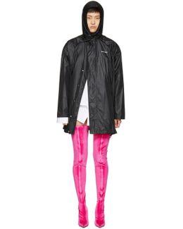 Black Scarf Windbreaker Jacket