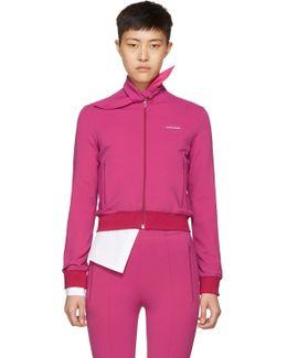 Pink Scarf Jogger Track Jacket