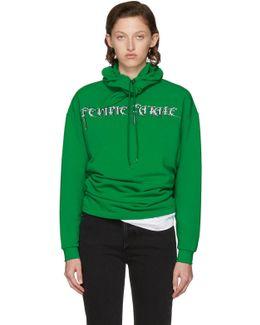 Green 'femme Fatale' Headscarf Hoodie