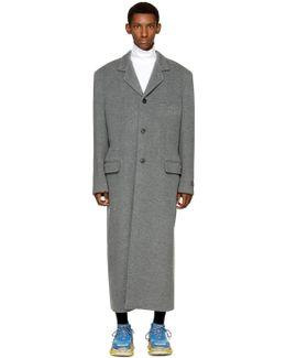 Grey Wool Long Coat
