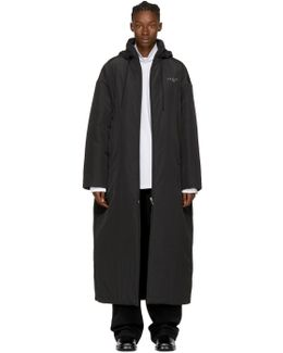 Black 'kering' Padded Raincoat