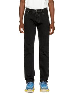 Black Five Pockets Jeans